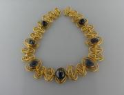 collana romana con zaffiri